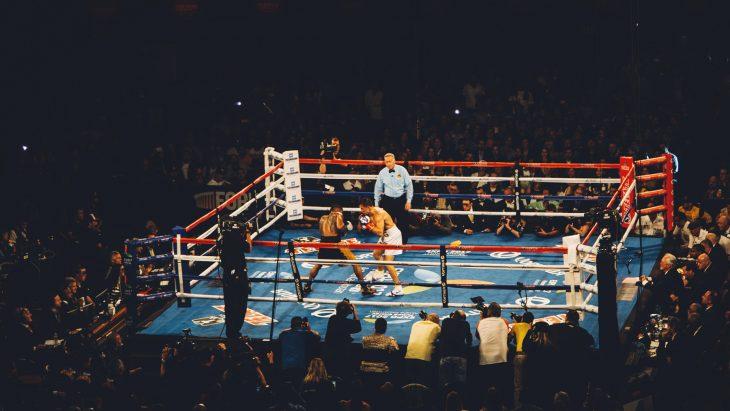 Kampfstellung im Boxen